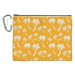 Summer Palm Tree Pattern Canvas Cosmetic Bag (XXL)