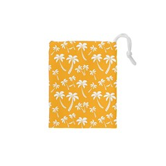 Summer Palm Tree Pattern Drawstring Pouches (XS)