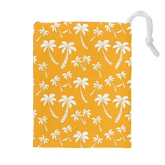Summer Palm Tree Pattern Drawstring Pouches (Extra Large)