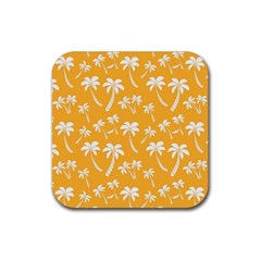 Summer Palm Tree Pattern Rubber Coaster (Square)