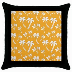 Summer Palm Tree Pattern Throw Pillow Case (black)