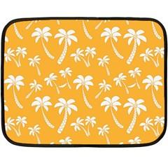 Summer Palm Tree Pattern Fleece Blanket (mini)