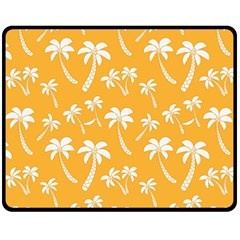 Summer Palm Tree Pattern Fleece Blanket (medium)