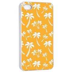 Summer Palm Tree Pattern Apple iPhone 4/4s Seamless Case (White)