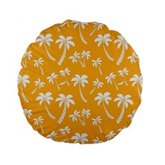 Summer Palm Tree Pattern Standard 15  Premium Round Cushions