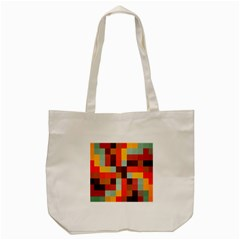 Tiled Colorful Background Tote Bag (cream)