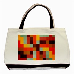 Tiled Colorful Background Basic Tote Bag (two Sides)