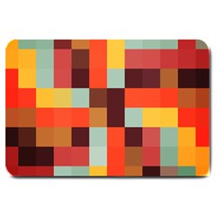 Tiled Colorful Background Large Doormat