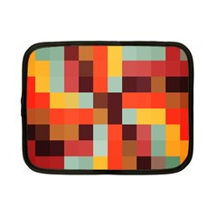 Tiled Colorful Background Netbook Case (small)