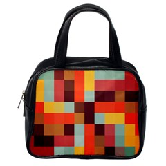 Tiled Colorful Background Classic Handbags (one Side)