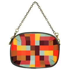 Tiled Colorful Background Chain Purses (one Side)