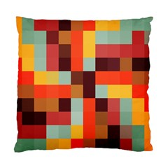 Tiled Colorful Background Standard Cushion Case (two Sides)