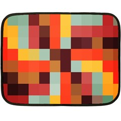 Tiled Colorful Background Double Sided Fleece Blanket (mini)