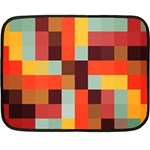 Tiled Colorful Background Double Sided Fleece Blanket (Mini)  35 x27 Blanket Back