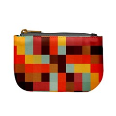 Tiled Colorful Background Mini Coin Purses