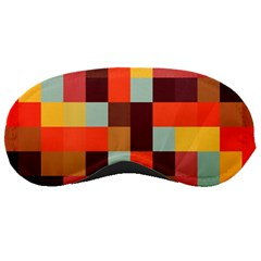 Tiled Colorful Background Sleeping Masks
