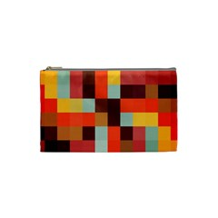 Tiled Colorful Background Cosmetic Bag (small)