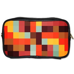 Tiled Colorful Background Toiletries Bags 2-Side