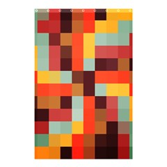 Tiled Colorful Background Shower Curtain 48  X 72  (small)