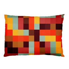 Tiled Colorful Background Pillow Case (Two Sides)