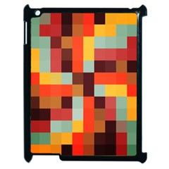 Tiled Colorful Background Apple iPad 2 Case (Black)