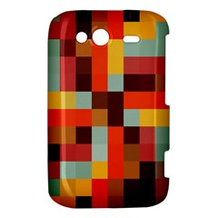 Tiled Colorful Background HTC Wildfire S A510e Hardshell Case