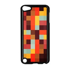 Tiled Colorful Background Apple iPod Touch 5 Case (Black)