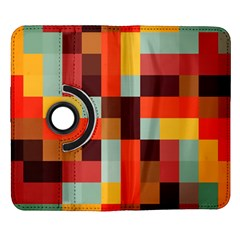 Tiled Colorful Background Samsung Galaxy Note II Flip 360 Case