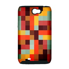 Tiled Colorful Background Samsung Galaxy Note 2 Hardshell Case (PC+Silicone)