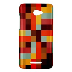 Tiled Colorful Background HTC Butterfly X920E Hardshell Case
