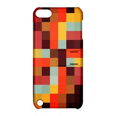 Tiled Colorful Background Apple iPod Touch 5 Hardshell Case with Stand