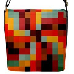 Tiled Colorful Background Flap Messenger Bag (S)