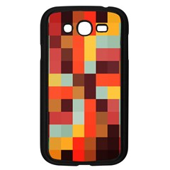 Tiled Colorful Background Samsung Galaxy Grand Duos I9082 Case (black)