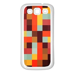 Tiled Colorful Background Samsung Galaxy S3 Back Case (white)