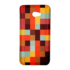 Tiled Colorful Background HTC Butterfly S/HTC 9060 Hardshell Case