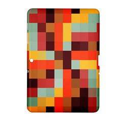 Tiled Colorful Background Samsung Galaxy Tab 2 (10 1 ) P5100 Hardshell Case