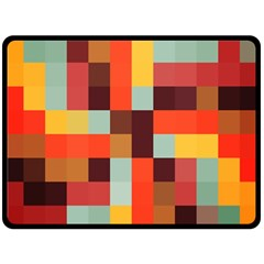 Tiled Colorful Background Double Sided Fleece Blanket (Large)