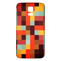 Tiled Colorful Background Samsung Galaxy S5 Back Case (White)