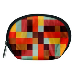 Tiled Colorful Background Accessory Pouches (Medium)
