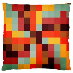 Tiled Colorful Background Large Flano Cushion Case (Two Sides)