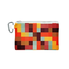 Tiled Colorful Background Canvas Cosmetic Bag (S)
