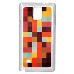 Tiled Colorful Background Samsung Galaxy Note 4 Case (white)