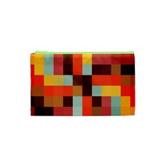 Tiled Colorful Background Cosmetic Bag (XS)