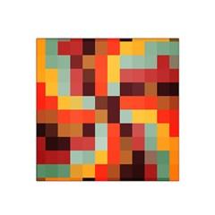 Tiled Colorful Background Satin Bandana Scarf
