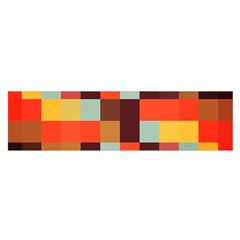 Tiled Colorful Background Satin Scarf (oblong)
