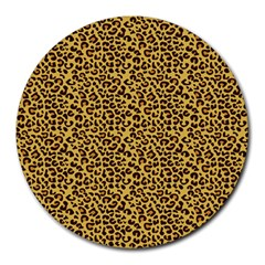 Animal Texture Skin Background Round Mousepads