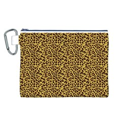 Animal Texture Skin Background Canvas Cosmetic Bag (l)