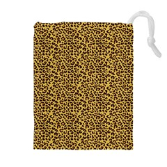 Animal Texture Skin Background Drawstring Pouches (Extra Large)