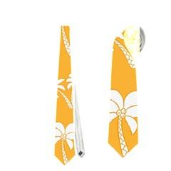 Summer Palm Trees Pattern Neckties (one Side)