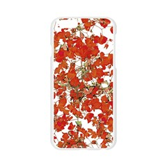 Vivid Floral Collage Apple Seamless iPhone 6/6S Case (Transparent)